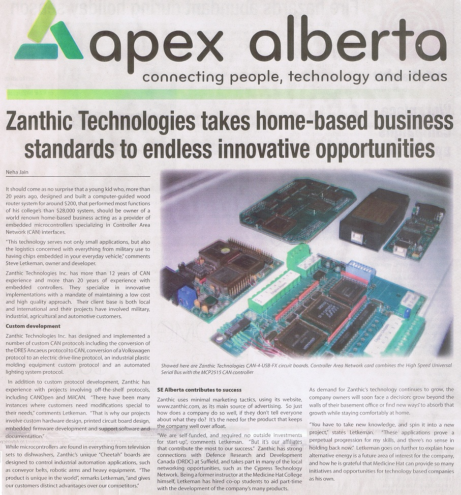 Zanthic Technologies Inc - In The News